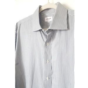 Hamilton Striped Long Sleeve Dress Shirt Size 17